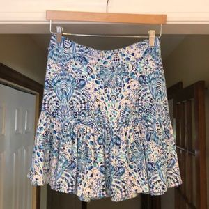 Lilly Pulitzer Jacey Skirt Blue White Shell M